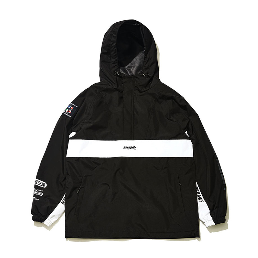 비에스래빗BSRABBIT 1920 BSR RUN ANORAK JACKET BLACK
