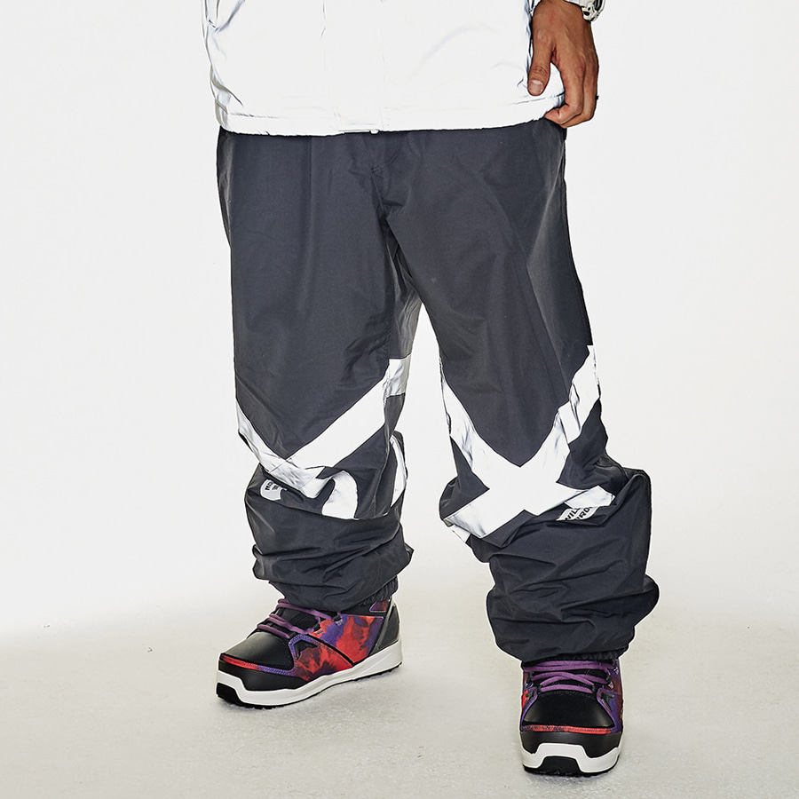 비에스래빗BSRABBIT 1920 POT-X REFLECTIVE JOGGER PANTS BLACK