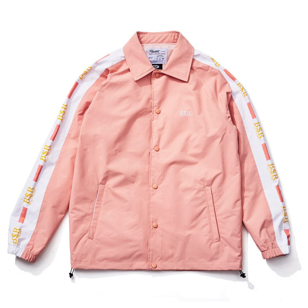 비에스래빗BSRABBIT 1819 BSR COACH JACKET INDY PINK