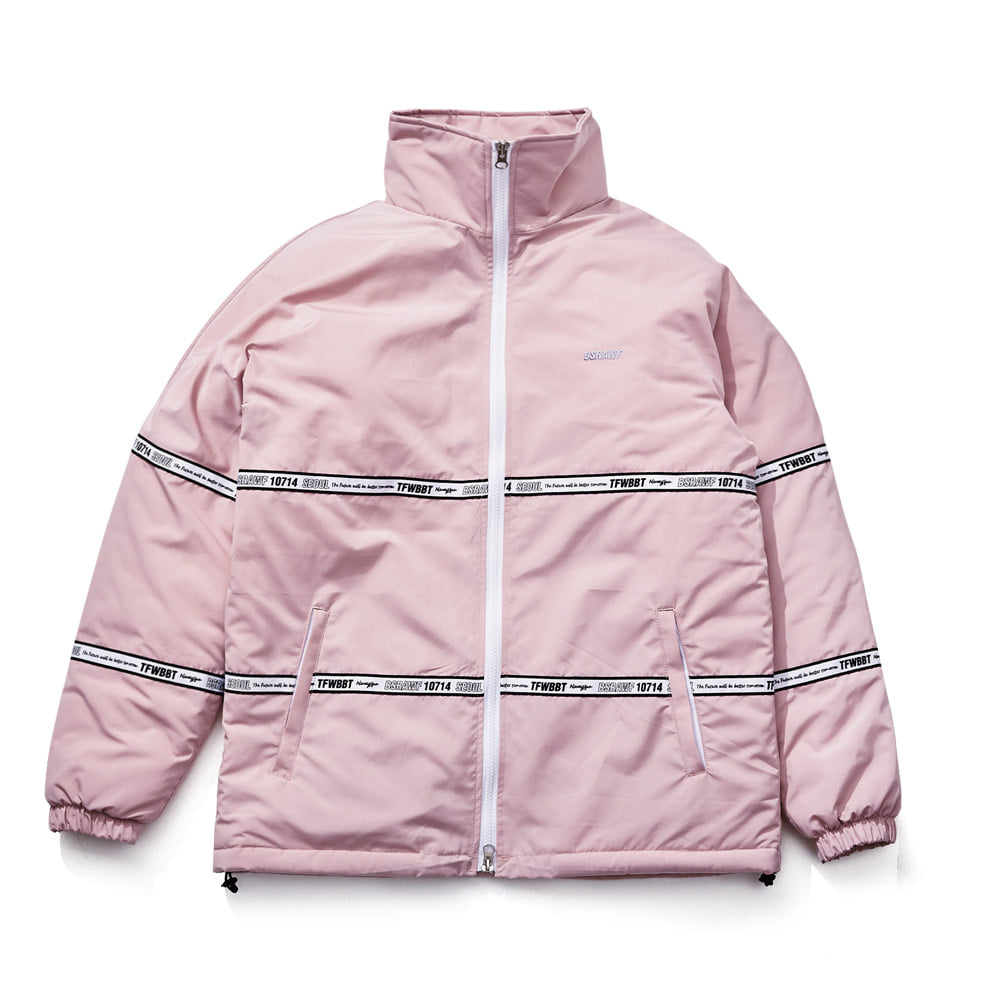 비에스래빗BSRABBIT 1819 TIDY HN STADIUM JACKET INDYPINK