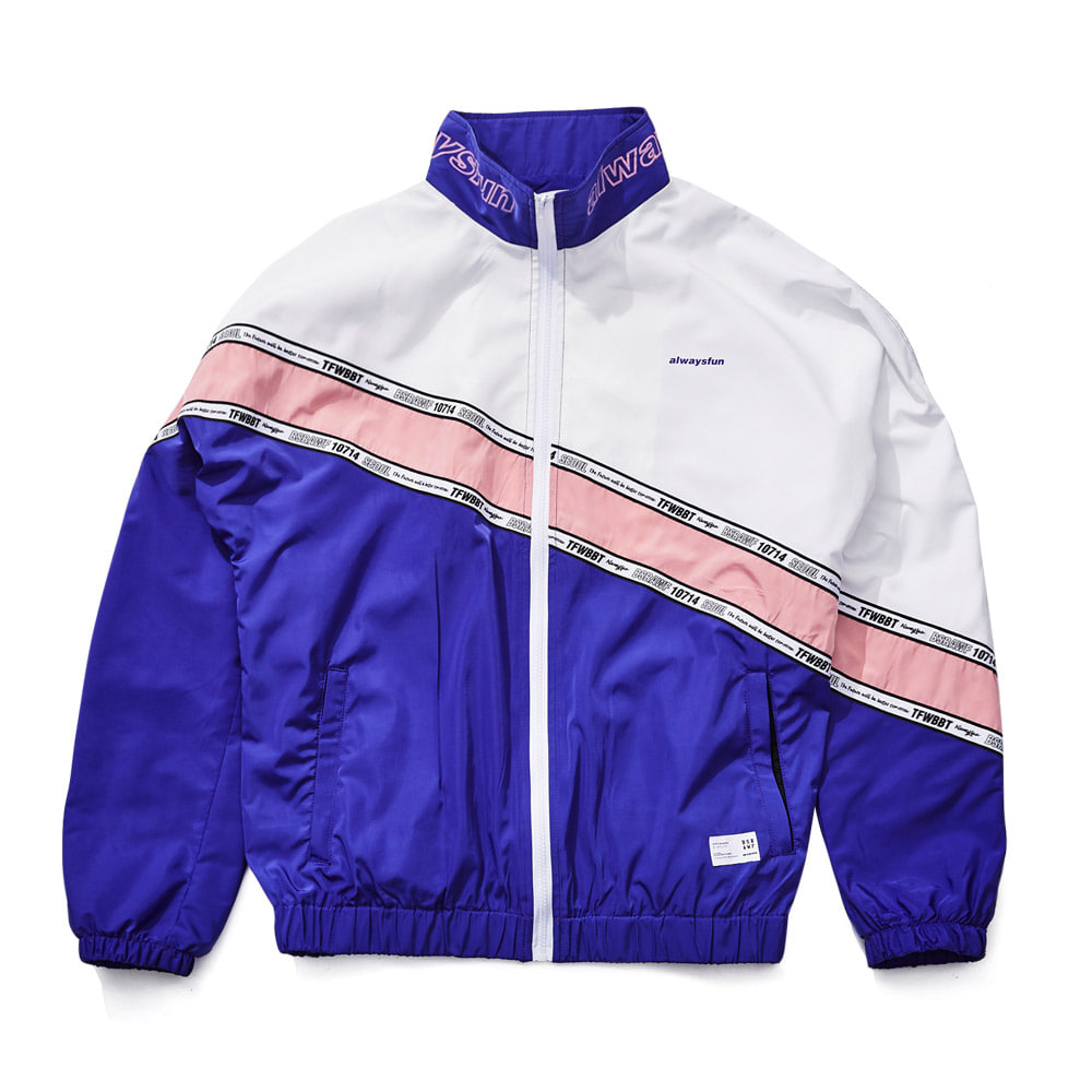 비에스래빗BSRABBIT 1819 DIAGONAL LINE TRACK JACKET PURPLE