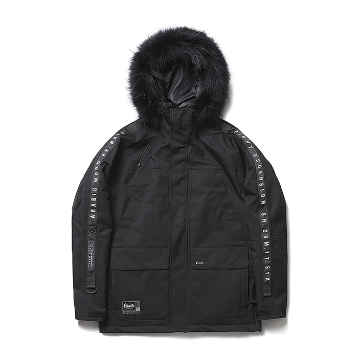 엘나스ELNATH 1819 AURI DUCKDOWN JACKET BLACK