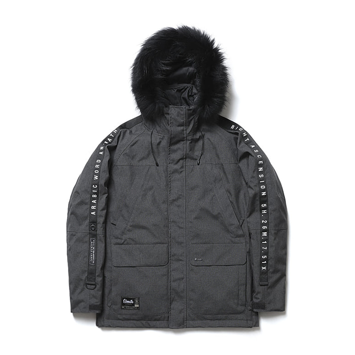 엘나스ELNATH 1819 AURI DUCKDOWN JACKET CHARCOAL