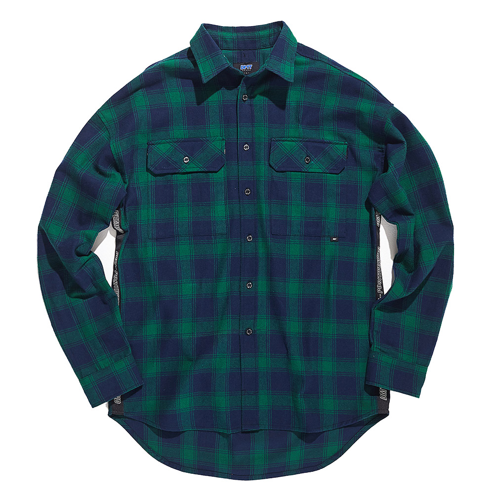 디미토DIMITO TAPE CHECK SHIRTS GREEN