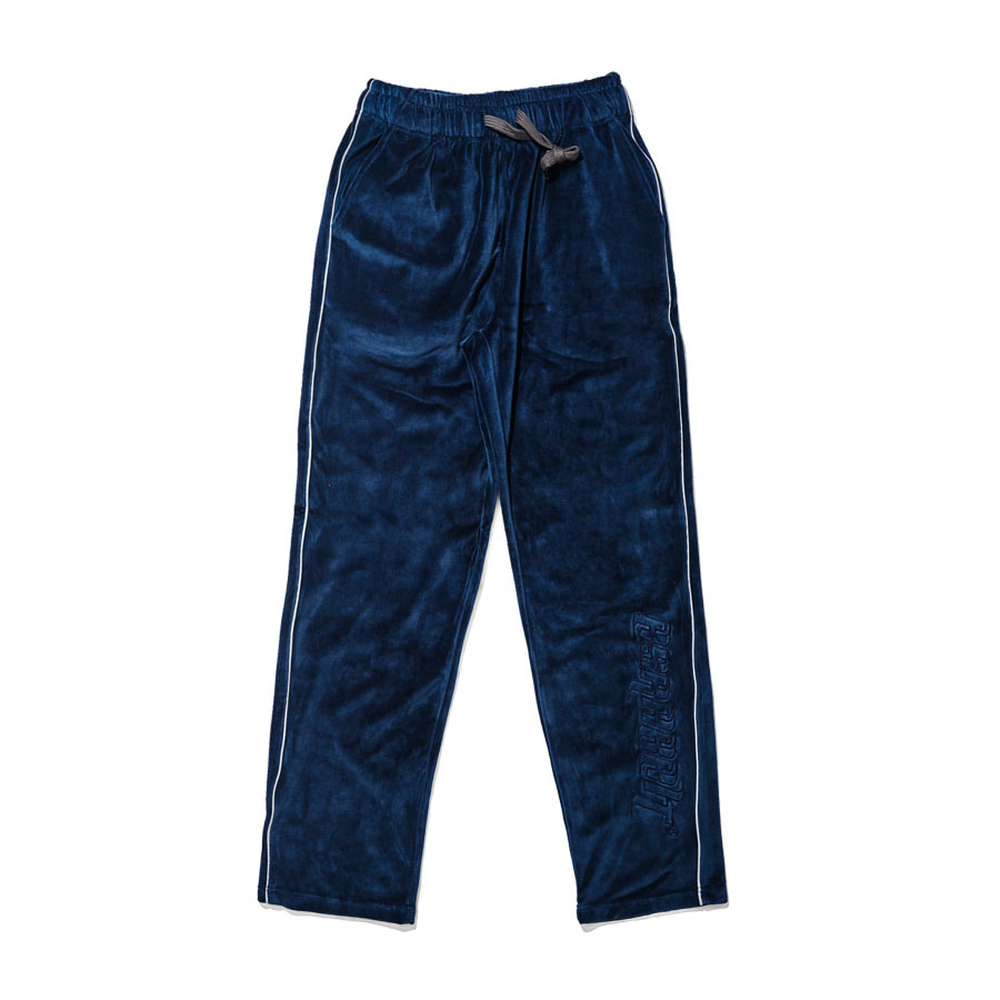 비에스래빗BSRABBIT 1920 BSR VELOUR TRACK PANTS NAVY