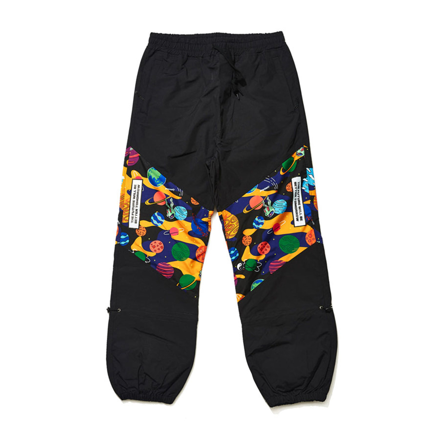 비에스래빗BSRABBIT 1920 BSR TRANSFORM BOX MULTI JOGGER PANTS BLACK
