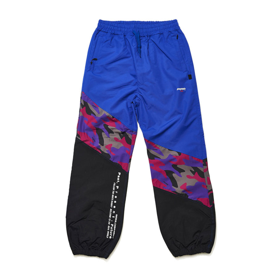 비에스래빗BSRABBIT 1920 DIAGONAL BOX JOGGER PANTS PURPLE CAMO