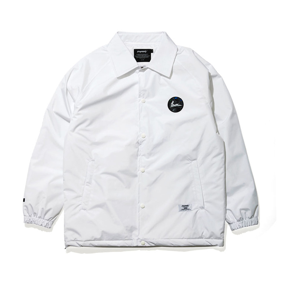 비에스래빗BSRABBIT 1920 BSR WARM COACH JACKET WHITE