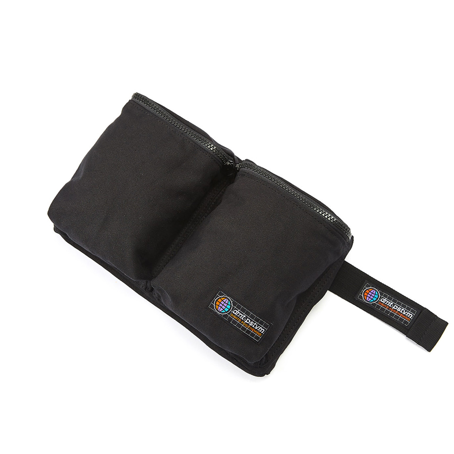 디미토DIMITO 1920 DOUBLE POCKET WAIST BAG BLACK
