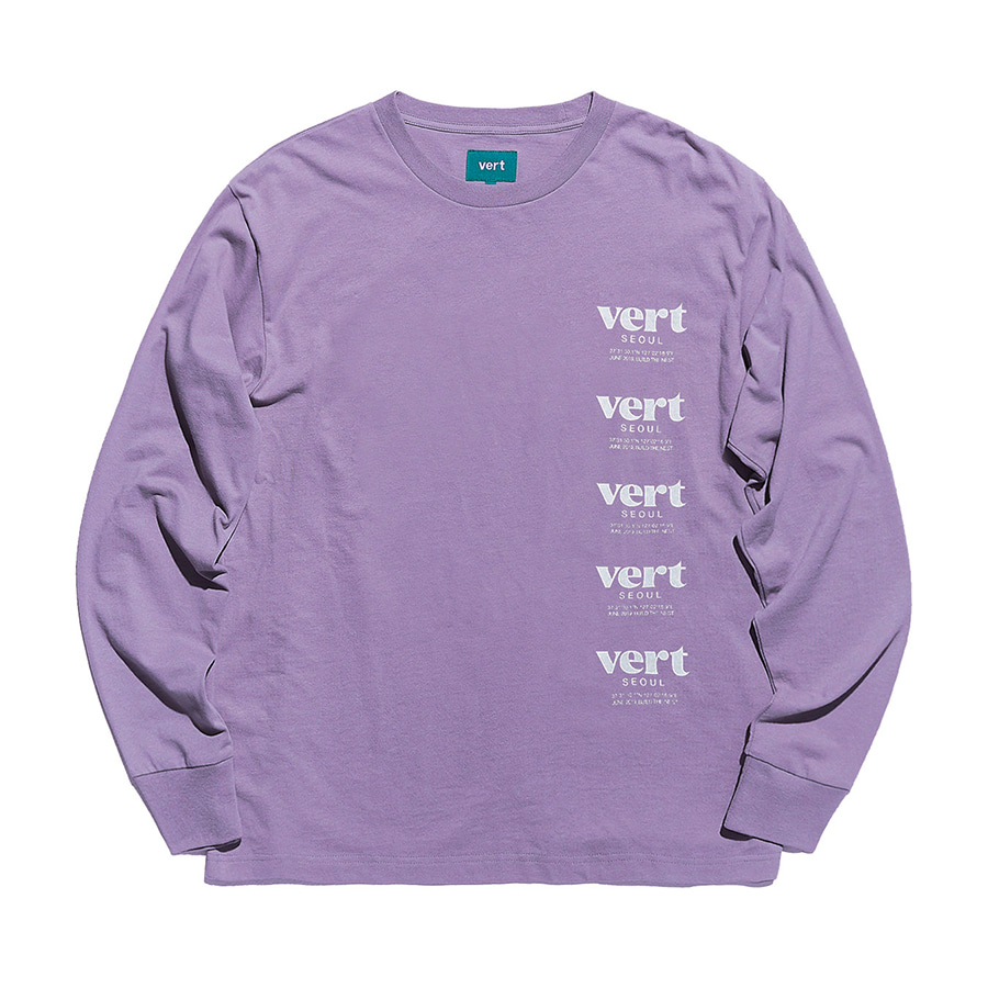 디미토DIMITO 1920 VERT SEOUL LONG SLEEVE PURPLE