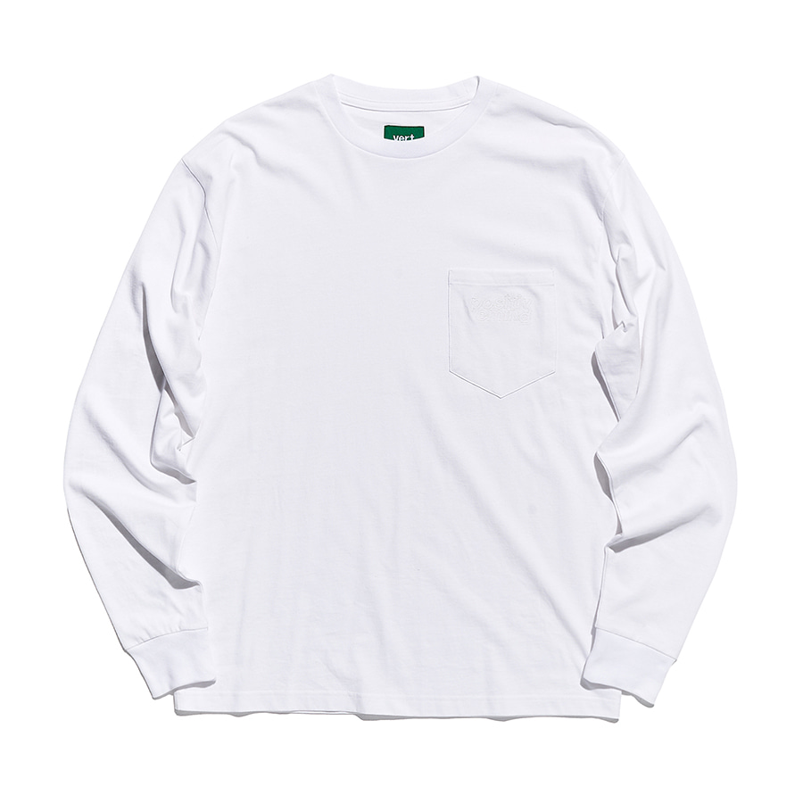 디미토DIMITO 1920 PSTVM POCKET LONG SLEEVE WHITE