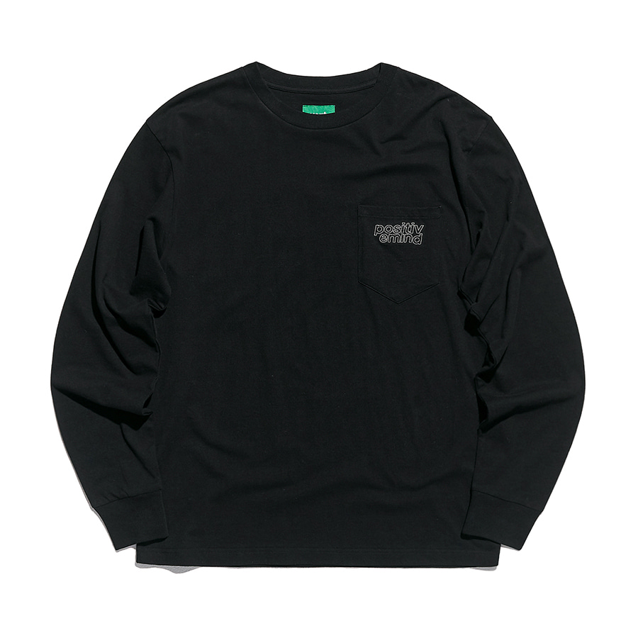 디미토DIMITO 1920 PSTVM POCKET LONG SLEEVE BLACK