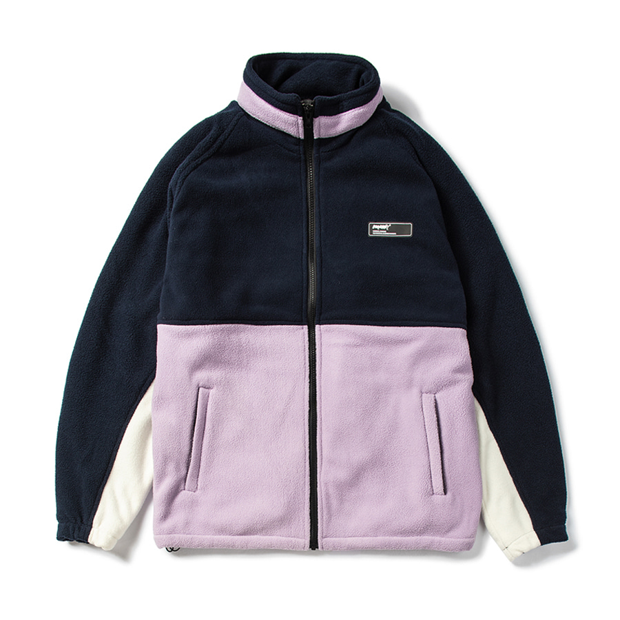 비에스래빗BSRABBIT 2021 TOASTY FLEECE JACKET NAVY PURPLE