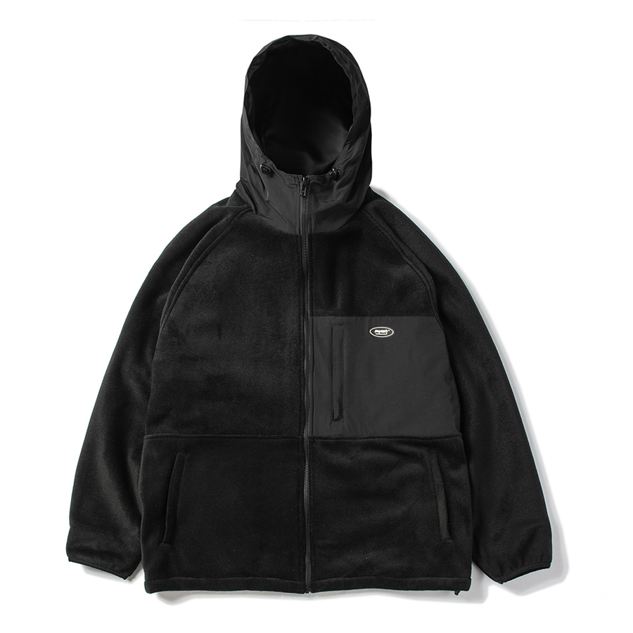 비에스래빗BSRABBIT 2021 ROYAL FLEECE JACKET BLACK